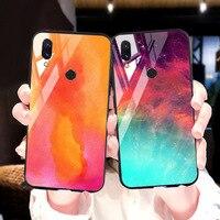 silicone case Tempered Glass Case For xiaomi redmi 7 6A 5 plus Cases Space Silicone Covers for xiaomi redmi note 5 6 7 pro back cover (1)