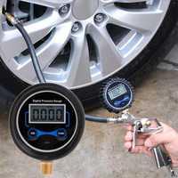 "0-200PSI LCD Digital Tire Pressure Gauge Car Auto Motorcycle Tyre Air PSI Meter 1/8"" NPT Precision: 0.01Bar"