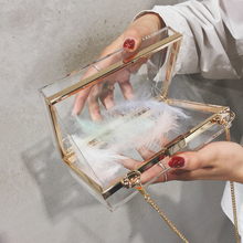 Женская акриловая прозрачная сумка, сумочка, милая прозрачная сумка через плечо, женская прозрачная сумка, вечерние, свадебные, вечерние клатчи