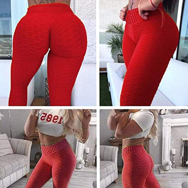 Mallas push up anticelulitis para mujer, leggings de fitness, sexy, de cintura alta, color negro, entrenamiento, talla grande 4