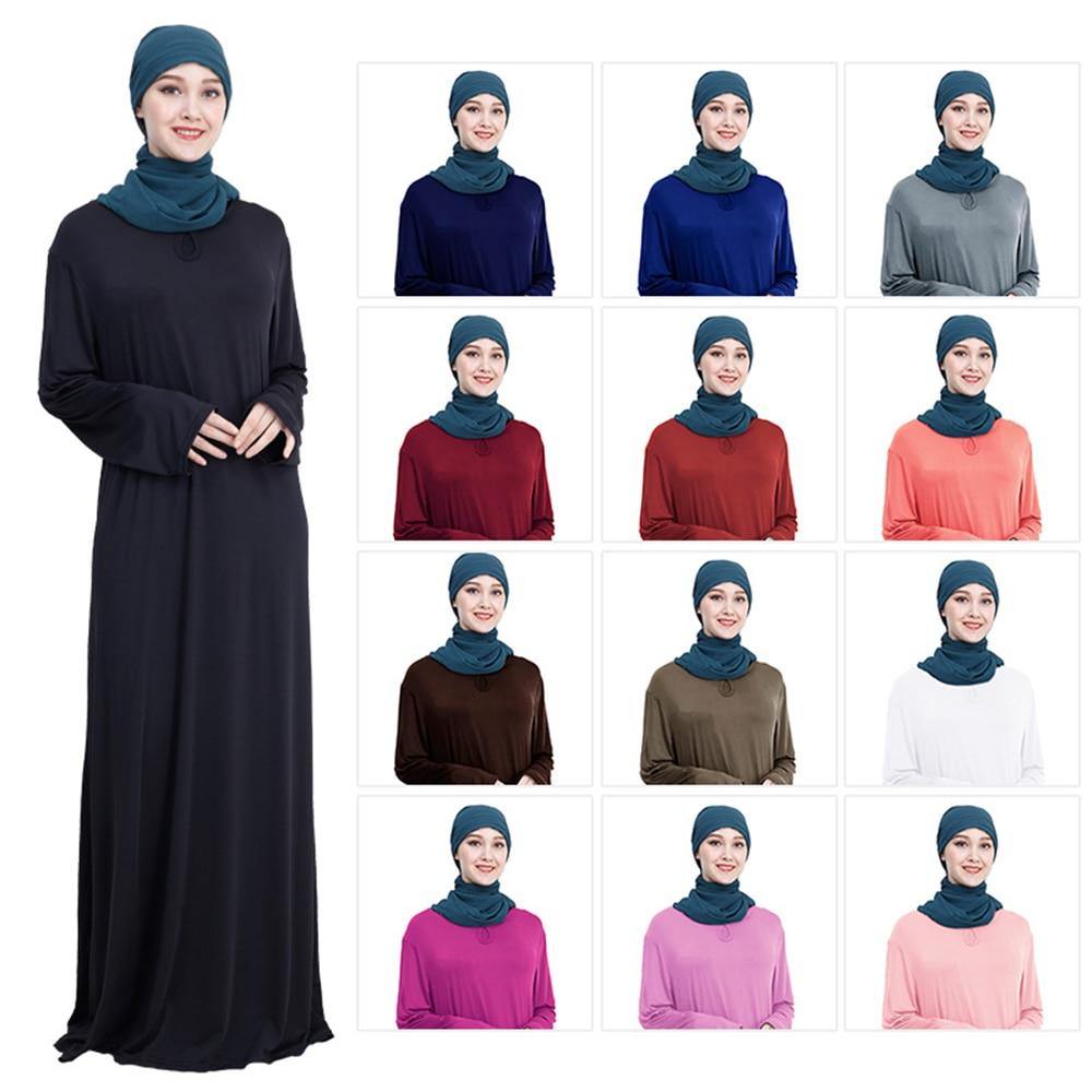 New Muslim Dress Women UAE Black Abaya Dubai Long Loose Robe Tunic Kimono Jubah Middle East Arab Hijab Islamic Clothing 2020