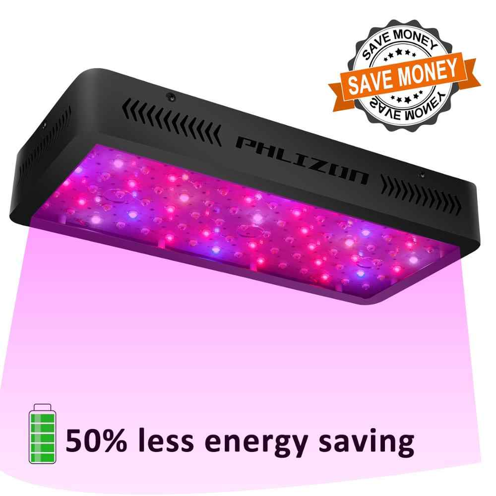 Phlizon LED Grow Light 600 W 900 W 1200 W Full Spectrum Double Switch untuk Rumah Kaca Hidroponik Tanaman Indoor Sayuran dan Bunga