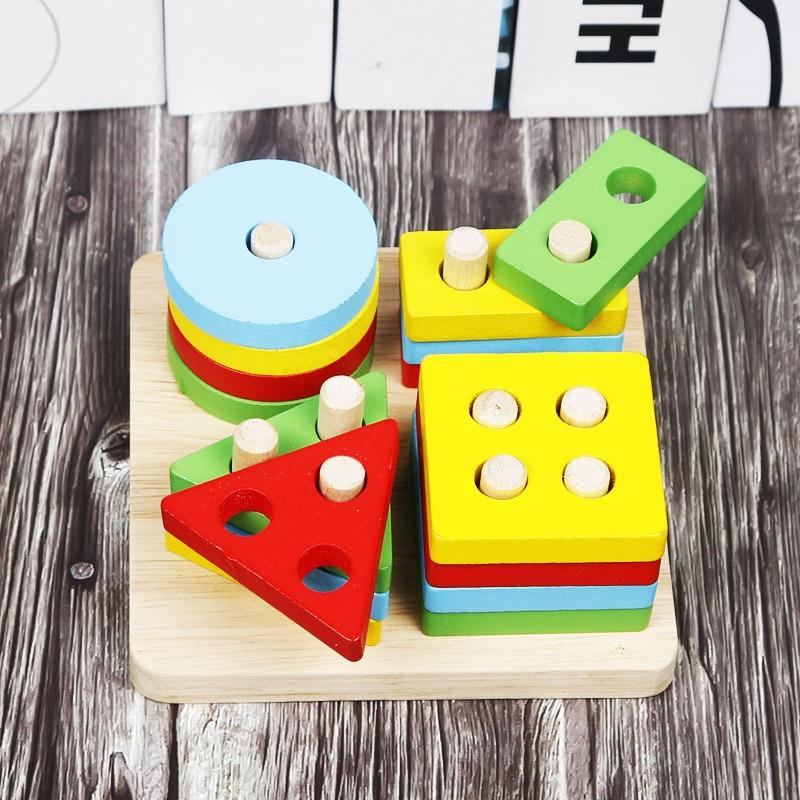 Children Bead-stringing Toy Month Building Blocks Educational Toy 6-12 Beaded Bracelet Baby Infant Bead-stringing Toy 2 Men's Wo