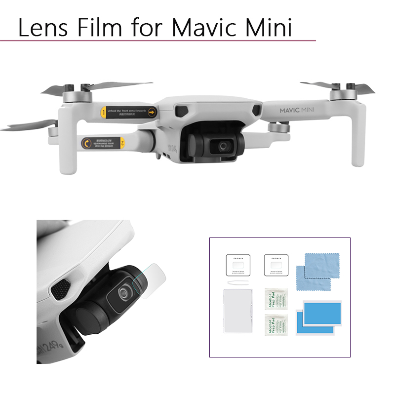 2 Set HD Protective Anti-Scratch Explosion-proof Tempered Glass Lens Film Screen Protector For DJI Mavic Mini Drone Accessories