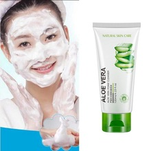 Skin Care Aloe Facial Cleanser Deep Pore Cleansing Anti Aging Natural Gel Daily Face Wash Exfoliating Gel Remove Blackheads недорого