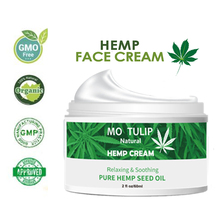 MO TULIP Hemp Oil Essence Day & Night Face Cream Anti-aging Relieve Anxiety Moisturizer Nourishing Skin Care Cream DROP SHIPPING