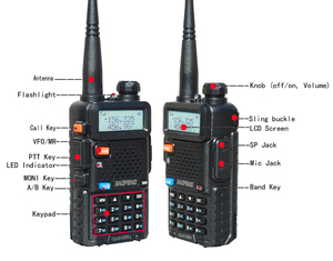 Image 4 - 2 pçs/set Pofung UV 5R BaoFeng Walkie Talkie Dual Band Rádio em Dois Sentidos Portátil Presunto Rádio Transceptor banda VHF/UHF Rádio Dual UV5R