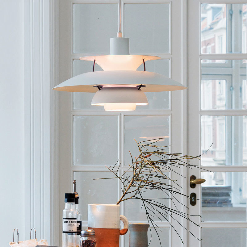 Ccontemporary Lighting Suspension Aluminum Single Pendant Lamp In Different Color Scandinavian Kitchen Chandelier