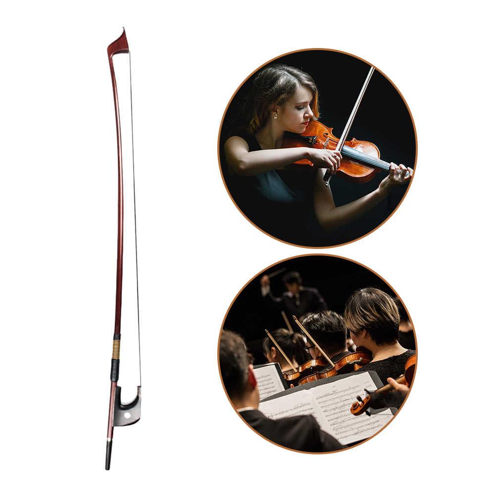 NAOMI Classic Brazilwood 4/4 skrzypce łuk lekka waga właściwa równowaga mongolski włosia końskiego łuk włosy Ebnoy żaba struny akcesoria