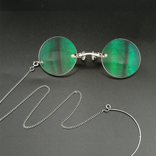 Glasses Silver Lenses-Spectacles Presbyopic with Round Or Chain Nose-Clip Opera Anti-Ancient