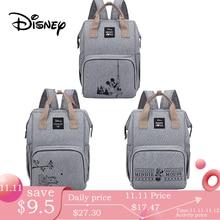 Сумка для подгузников Disney Minnie Mickey, рюкзак для мам, сумка для кормящих мам, сумка для коляски, вместительная сумка для детских подгузников, органайзер, Новинка