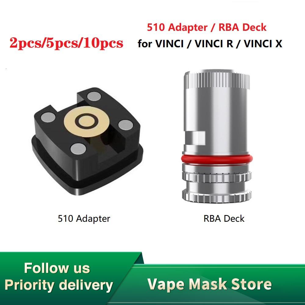 Hot 510 Adapter & Compact RBA Deck For VINCI /VINCI R/ VINCI X Kit Electronic Cigarettes Thread Vape Accessory Vinci Mod Pod Kit