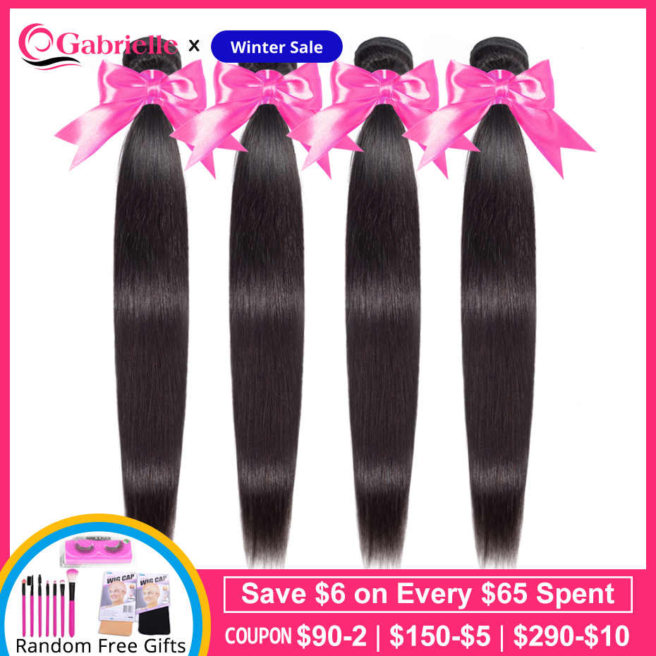 Gabrielle Brazilian Straight Hair Bundles 8-30 inch Natural Color Remy Human Hair Weave Bundles Free Shipping