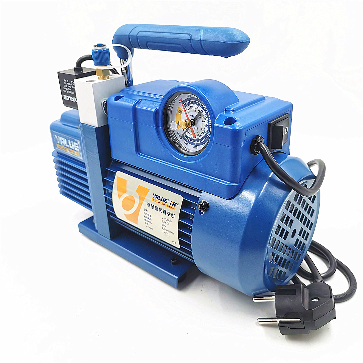 220V 180W V-i120SV New Refrigerant Vacuum Pump Air Conditioning Pump Vacuum Pump For R410A, R407C, R134a, R12, R22