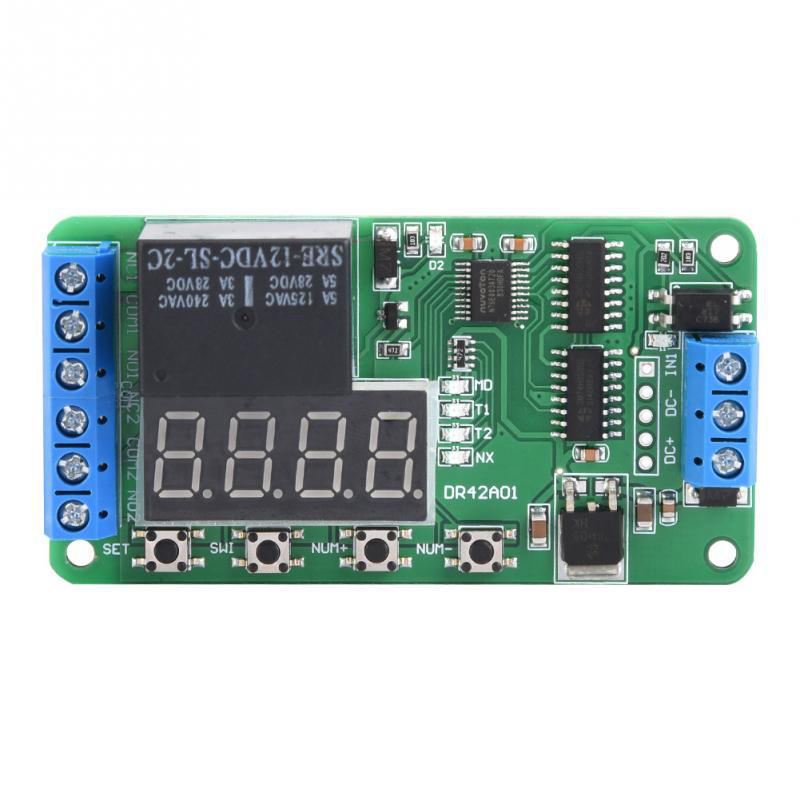 Dual Channel 12V Multi Functional Dpdt Delay Timer Relay Time Control Switch Dr42A01
