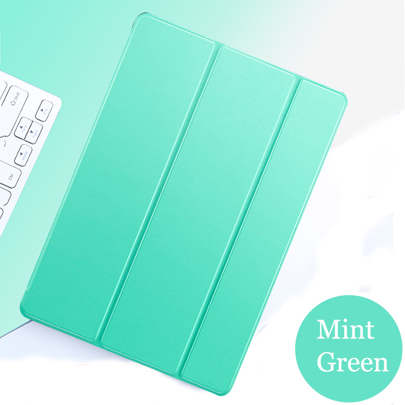 Mint Green Green Tablet case for Apple ipad pro 11 2020 cover Smart Sleep wake Stand Three fold solid