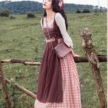 Высокое качество, Новое поступление, круглый воротник, длинный рукав, в клетку, цвет блок, женское длинное Хлопковое платье