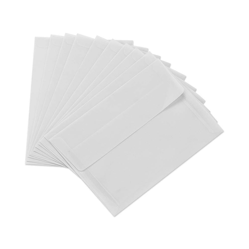 200Pcs Translucent Blank White Parchment Paper Envelope Postcards Invitations Cover Envelopes