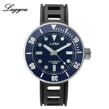 Lugyou San Martin Automatische Diver Horloge Rvs Sapphire Keramische Roterende Bezel Zwart 100ATM Waterbestendig Super Glow