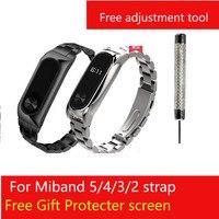 Per Xiaomi Mi Band 6 5 2 3 4 cinturino da polso cinturino per Mi band4 3 2 cinturino in metallo per Miband Mi Band5 cinturino Smart Bracelet 316L