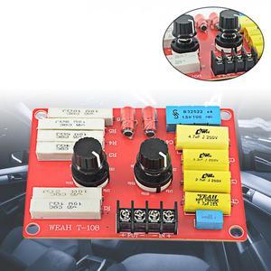 Haut-parleurs HiFi de maison 12V | Multisegments réglables Audio de voiture, Tweeter Modification diviseur de fréquence, filtres croisés