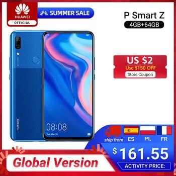 Перейти на Алиэкспресс и купить Huawei P Smart Z с глобальной версией, 4 ГБ, 64 ГБ, восьмиядерный смартфон Kirin 710F, авто всплывающая фронтальная камера, 6,59 дюйма, поддержка мобильного ...