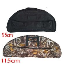 95cm/115cm Archery Compound Bow Bag Padded Layer Foam Bow Case Hunting Holder Arrow Tube Packet Portable Bag(China)