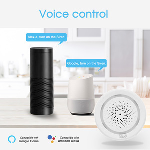 Image 5 - Wireless WiFi Siren Alarm Sensor For Home Smart Device Support Battery Powered Can Be Charged with USB Cable TUYA Smart Life