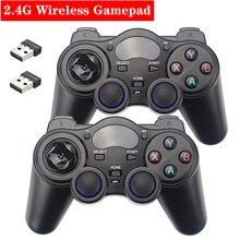 2.4G אלחוטי בקר משחק ג ויסטיק Gamepad עם USB ממיר מתאם עבור אנדרואיד טלוויזיה תיבת מחשב PS3 פטל Pi 4B 3B 3B +