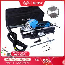 Hilda mini serra circular elétrica diy multifuncional serra elétrica ferramentas elétricas ferramenta rotativa lâminas de serra circular para madeira
