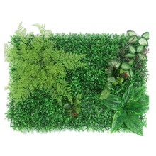 1Pcs Artificial Green Plant Lawns Carpet Artificial Grass Wall Panel Home Garden Wall Landscaping Miniature Lawn Backdrop Decora