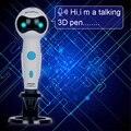 2018 smaffox 3D Ручка  первая с голосовыми подсказками функция 3D печать Ручка  дизайн в форме робота  PLA нити заправки автоматическая подача