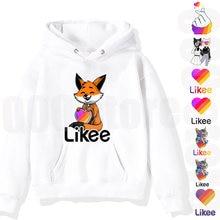 Kids likee hoodie pullover 1 video sweatshirt children clothing