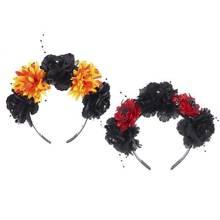Обруч с разноцветным цветком для волос на Хэллоуин