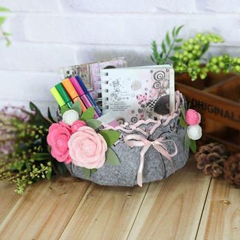 Nowa tkanina Craft zestaw do diy kosz do przechowywania zestaw do szycia czuł materiał do rękodzieła stosowanego pakietu aby umieścić rozmaitości tanie i dobre opinie 1 Pack NH940747 flower