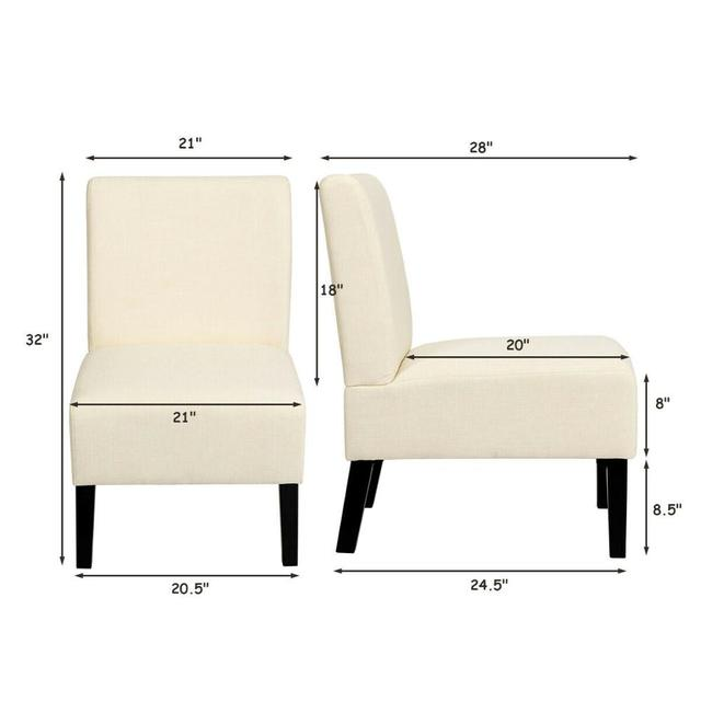 Armless Accent Leisure Chair  2