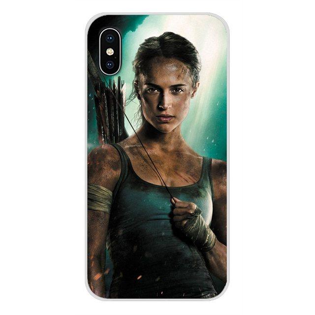 Lara Croft tomb raider akcesoria obudowa na telefon pokrowce na Apple iPhone X XR XS 11 pro MAX 4S 5S 5C SE 6S 7 8 Plus ipod touch 5 6
