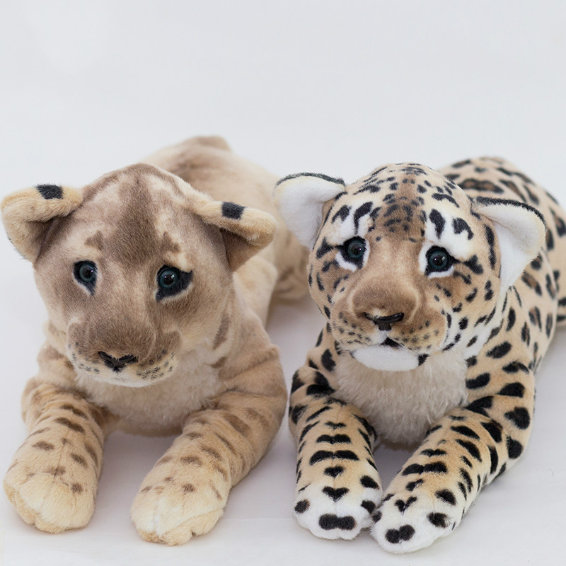 Simulated Leopard Doll Cute Soft Toy Lion Plus Plush Toy Stuffed Animal Animal Doll Jaguar Tiger Doll Girl Love Gift AA60MR