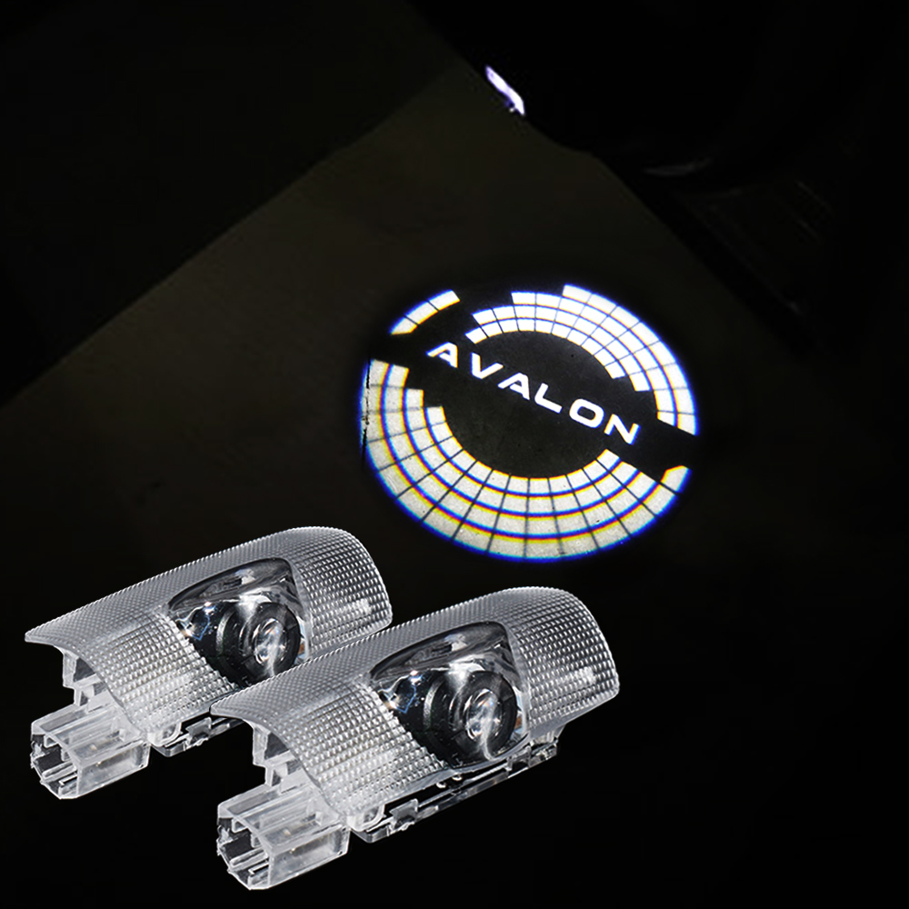 2X LED Welcome Light For Land Cruiser 2010-2018 Avalon 2019+ Car Accessories Door Logo Projector 6000K Ghost Shadow Lamps
