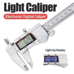 Light Display Caliper With Backlight Night Vision Light Stainless Steel Digital Metal Caliper Gauge Measuring Tools 0-150mm 6In
