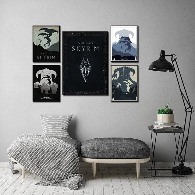 Skyrim  Холст украшение для дома -