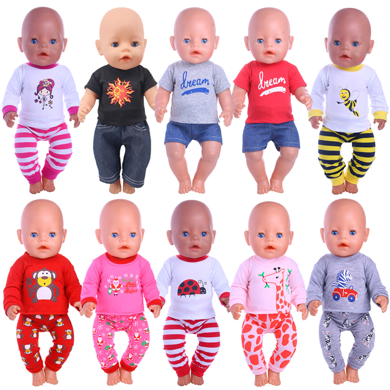 Doll Pajamas 14 Styles Clothes Accessories Fit 18 Inch American&43 CM Born Baby Generation,Russian DIY Toy Birthday Girl's Gift