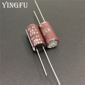 Image 1 - 100 Pcs 470 Uf 35V Nippon Ncc Ky Serie 10X20 Mm Lage Impedantie Lange Levensduur 35V470uF Aluminium elektrolytische Condensator