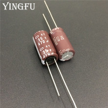 100 Uds 470uF 35V NIPPON NCC KY serie 10x20mm de baja impedancia larga vida 35V470uF condensador electrolítico de aluminio