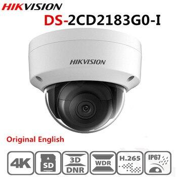 Оригинальная Hik 8MP ip-камера POE, уличная DS-2CD2183G0-I купольная камера безопасности H.265 с разъемом для sd-карты, 30 м, водонепроницаемая камера ночного видения