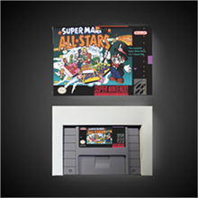 سوبر Marioed جميع النجوم آر بي جي بطاقة الألعاب بطارية حفظ الولايات المتحدة نسخة صندوق البيع بالتجزئة