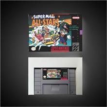 Super Marioed All Stars карта для игры, ролевая игра, аккумулятор, Сэкономьте американскую версию, Розничная коробка