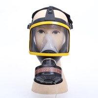 Ademhalingsmaskers Masker Met Filter Cartridge Organische Damp Vizier Bescherming Industriële Veiligheid Gas Masker voor Schilderen Spray-in Maskers van Veiligheid en bescherming op