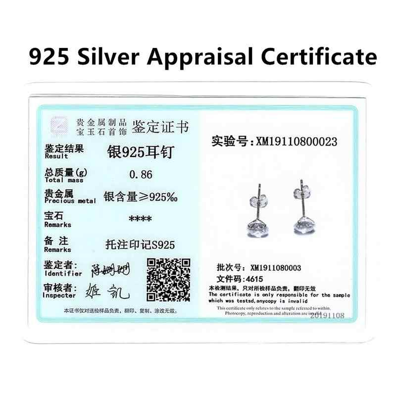 DALARAN kristal 925 ayar gümüş dört pençeleri zirkon damızlık küpe kadınlar için moda gümüş takı 3mm 8mm