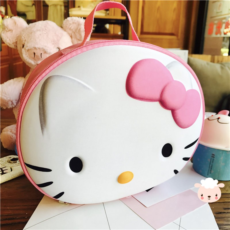Cosmetic Bag Cute 3D Hello Kitty Travel Makeup Bag Organizer Women Lady Storage Portable Make Up Case